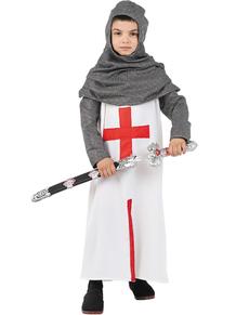 Fato de cruzado medieval para menino