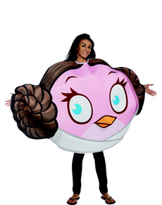 Fato de Angry Birds Princesa Leia para adulto