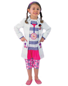 Fato de Doutora Brinquedos  para menina
