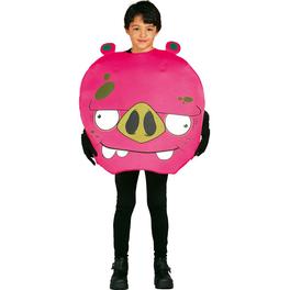 Fato de Porco Angry cor-de-rosa infantil