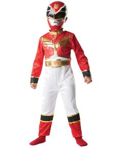 Fato de Power Ranger Megaforce Vermelho para menino