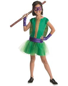 Fato de Donatello Tartarugas Ninja deluxe para menina