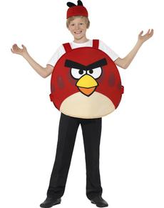 Fato de Red Angry Birds para menino