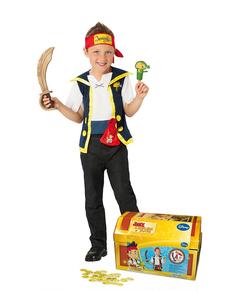 Fato de Jake e os Piratas da Terra do Nunca para menino em cofre