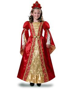Fato de rainha escarlata para menina