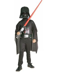 Fato de Darth Vader con espada de laser para menino